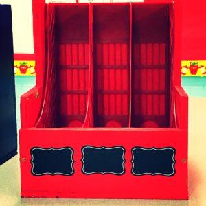 Student Storage Bins with Chalk Labels