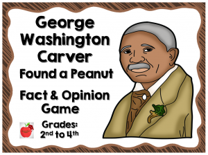 Cover for the Fact and Opinion Game on George Washington Carver